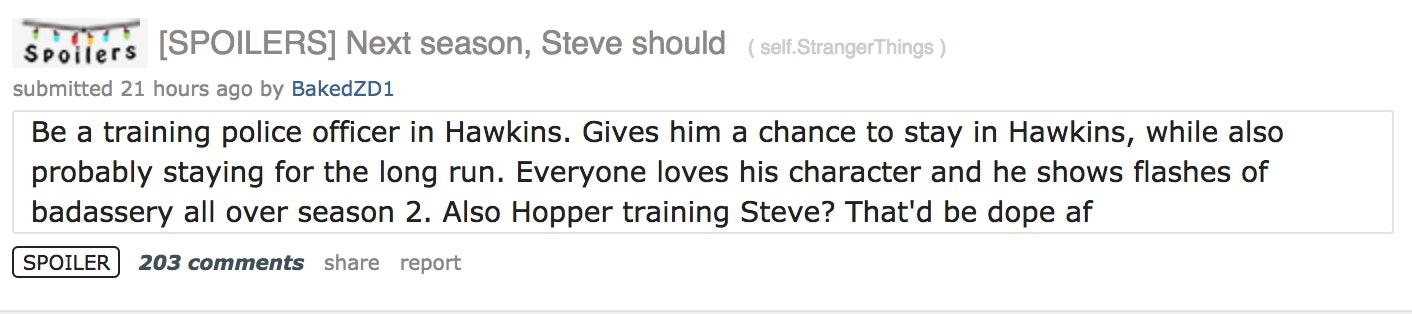 Stranger Things' Season 3 Steve & Hopper Theory Is Too Perfect