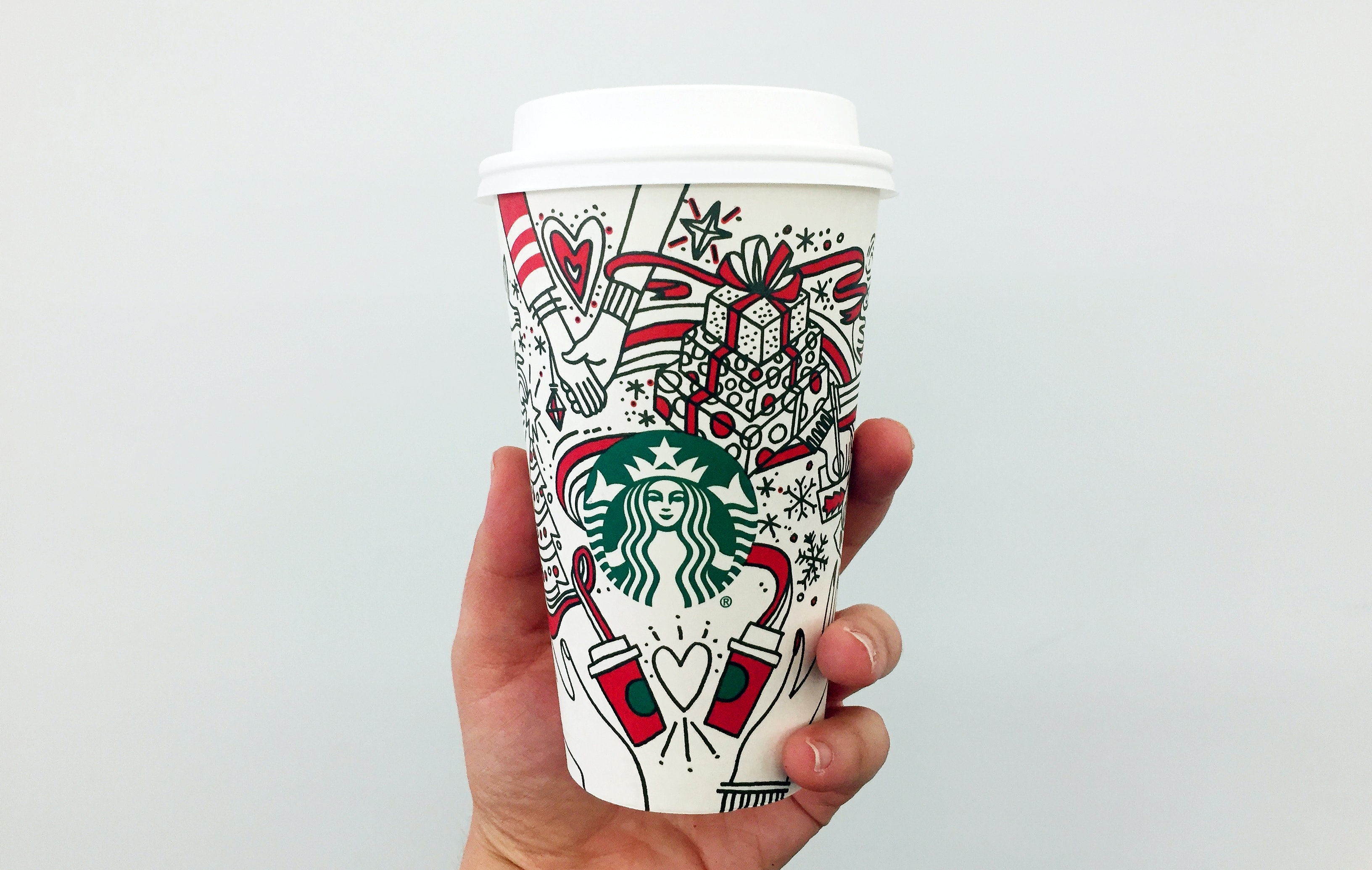 Starbucks' holiday cups have a different spin this year