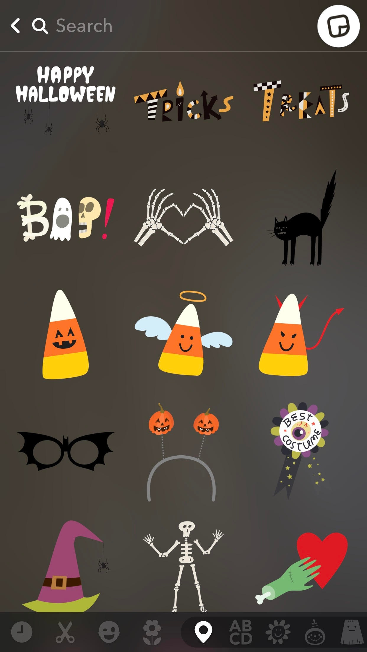 Halloween Stickers Aesthetic.How To Use Halloween Bitmojis On Snap Map For Spooky Updates