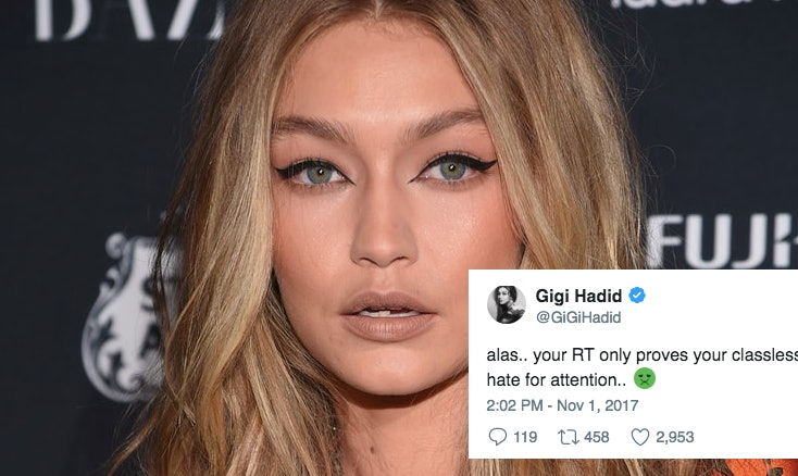 Gigi Hadid Calls Out Islamophobic Twitter User After NYC Attack