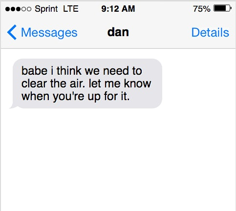 5 Serious Texts To Send Your Partner When You're Mad Besides