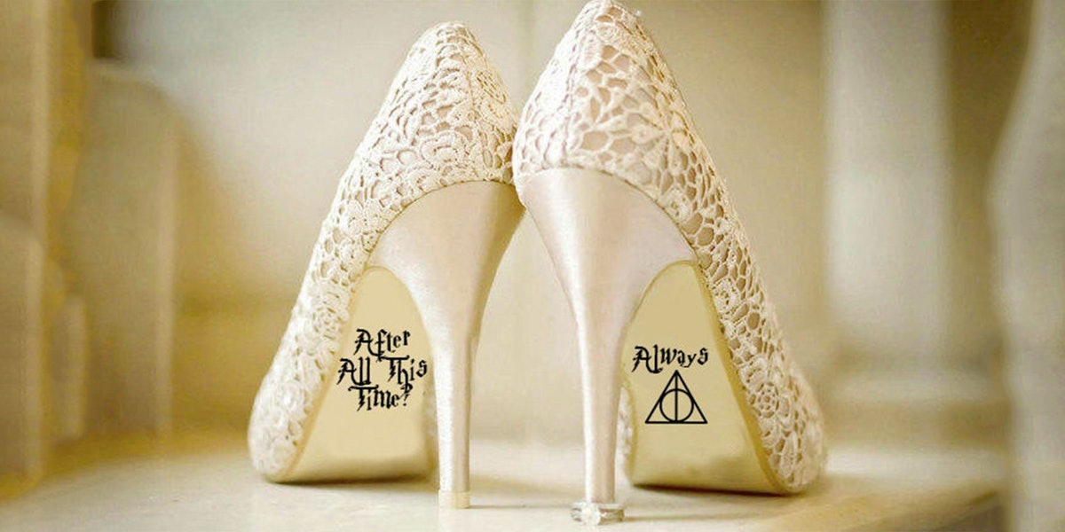 These Harry Potter Wedding Shoe Decals Will Make You Feel As Glamorous As Fleur Delacour