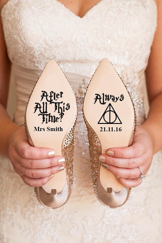 These Harry Potter Wedding Shoe Decals Will Make You Feel As Glamorous Fleur Delacour On Your Big Day