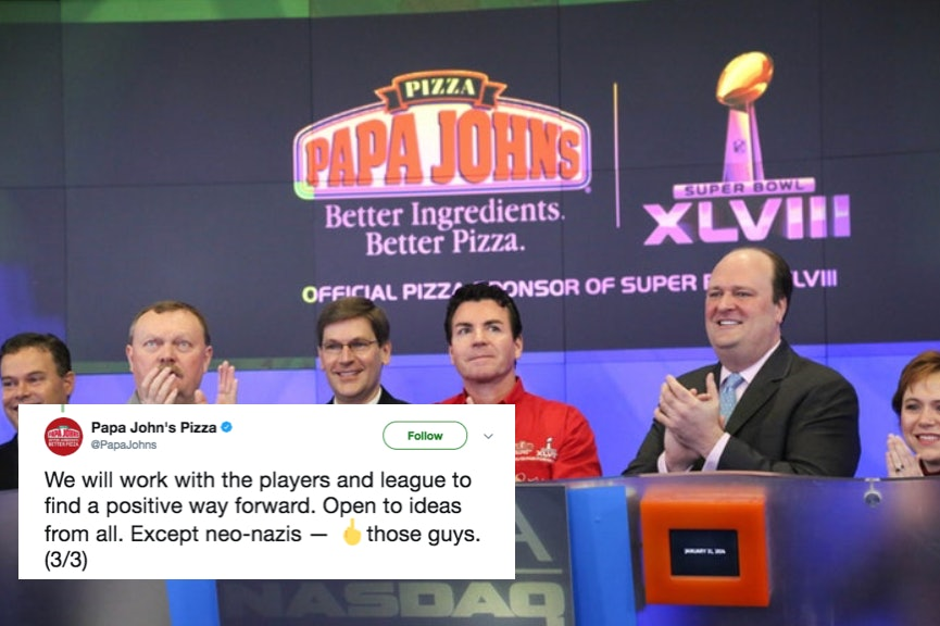 Papa John's tweets apology for being 'divisive' when ripping NFL