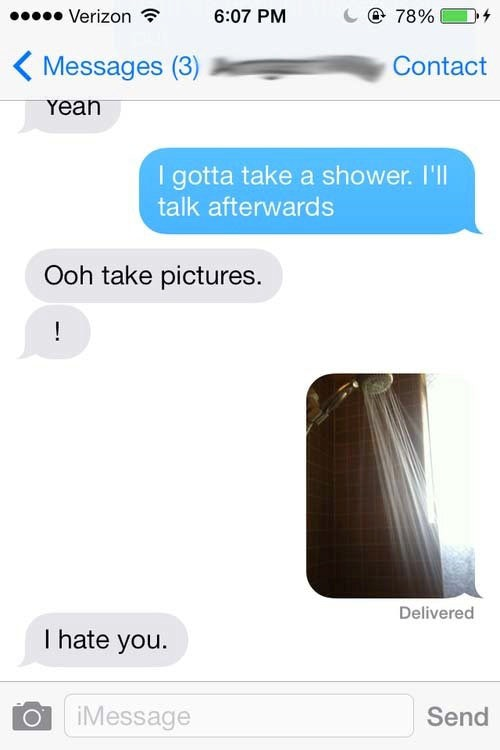 Shower sext examples