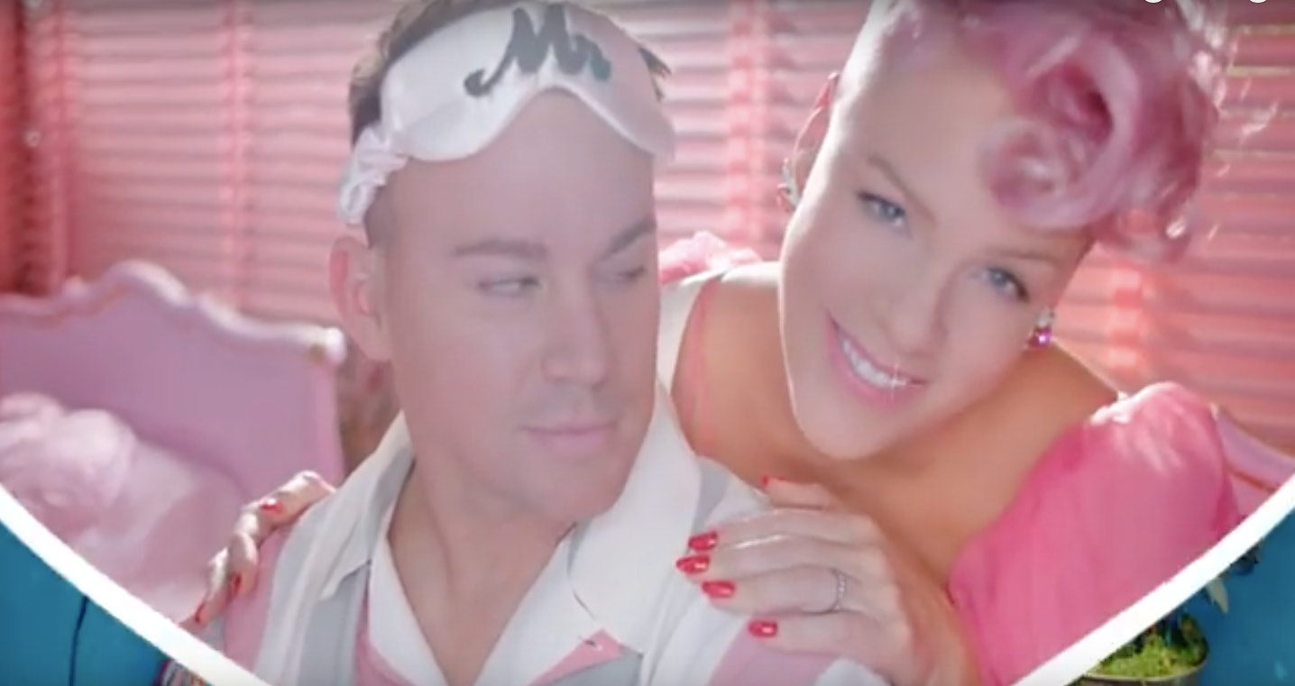 Watch Pink and Channing Tatum attempt domestic bliss in 'Beautiful Trauma'