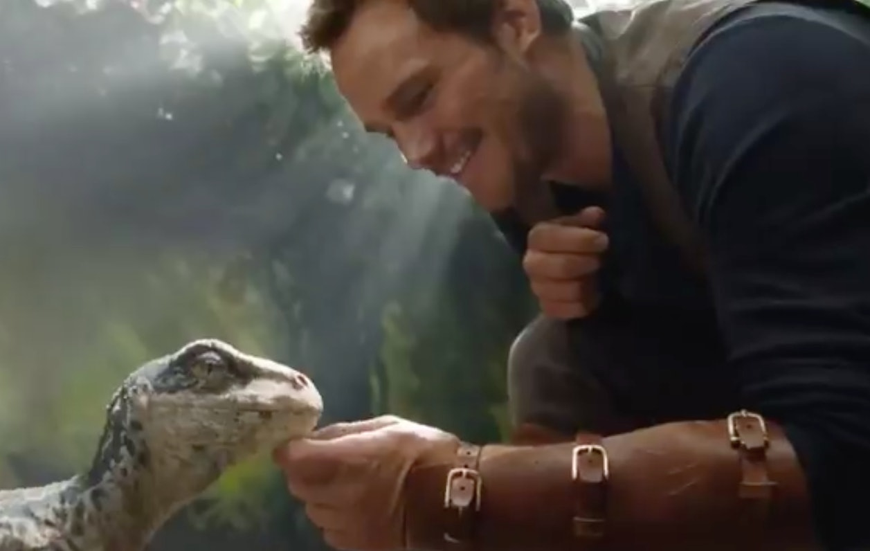 Fallen Kingdom' teaser: Chris Pratt befriends a baby dinosaur
