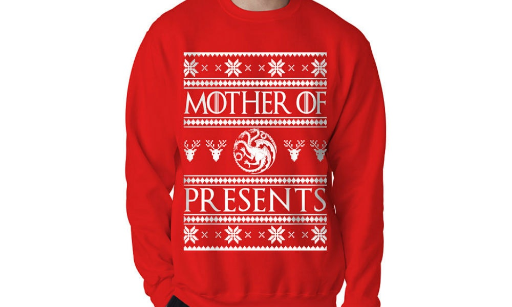 15 game of thrones christmas sweaters to keep you warm when it starts to jon snow