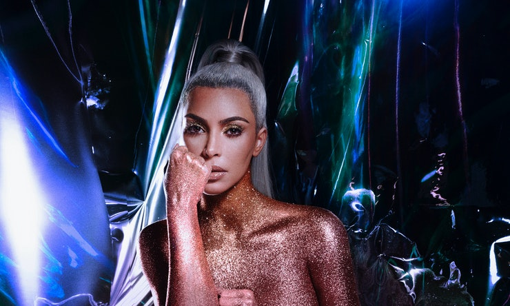 Kim Kardashian Covers Her Naked Body In Glitter For New