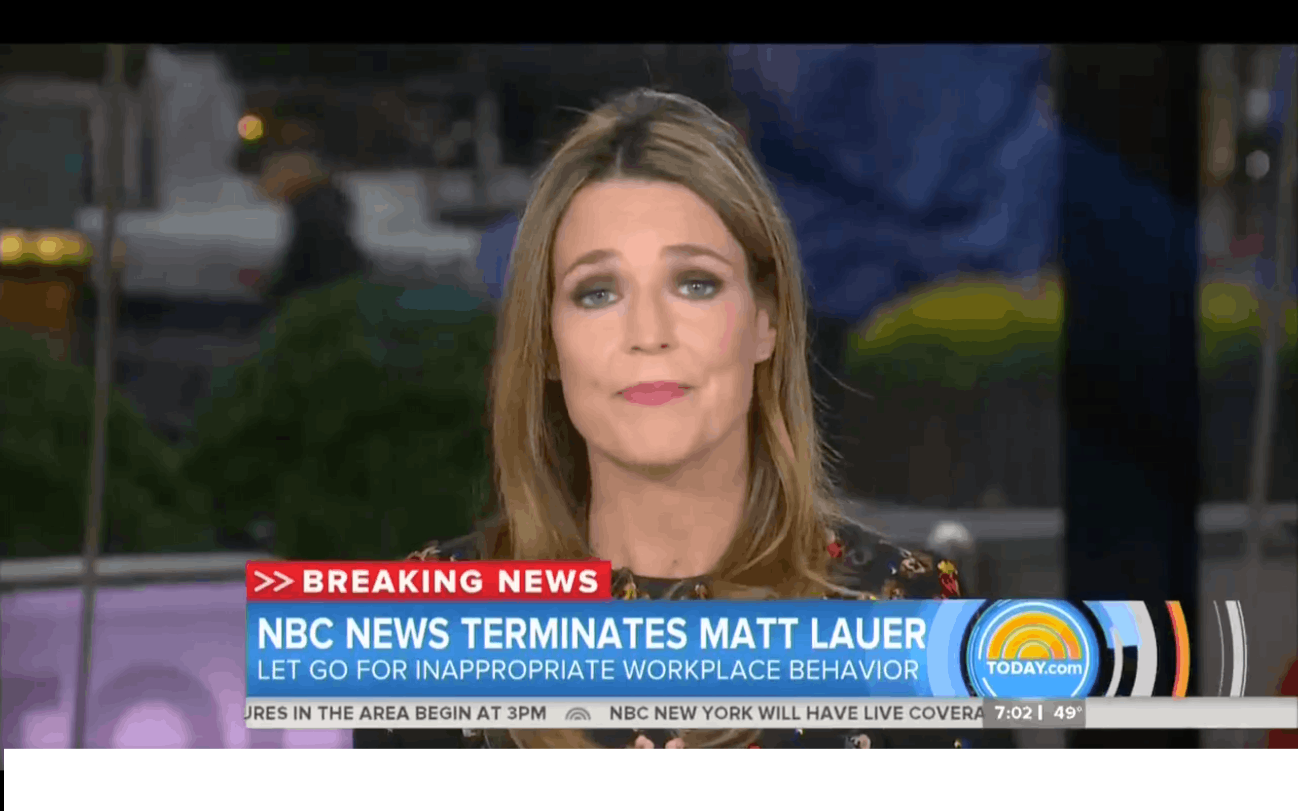 NBC News fires 'Today' anchor Matt Lauer after sexual misconduct review