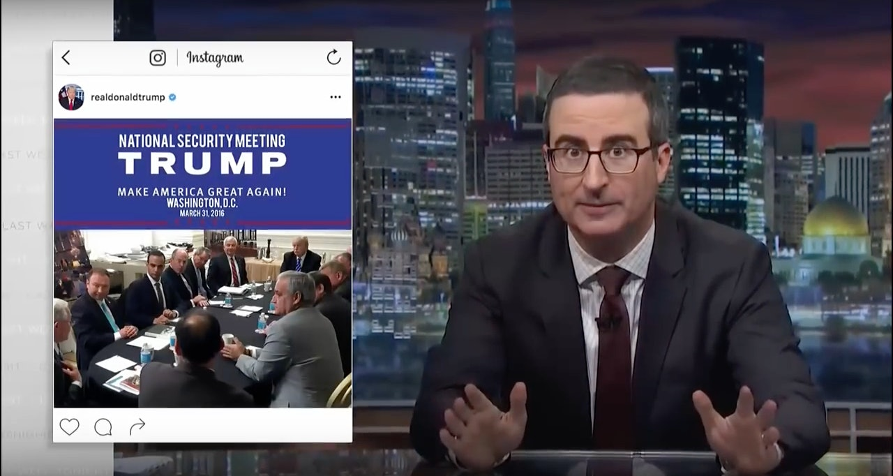 John Oliver Urges Americans: 'Don't Let Trump Play The Trump Card'