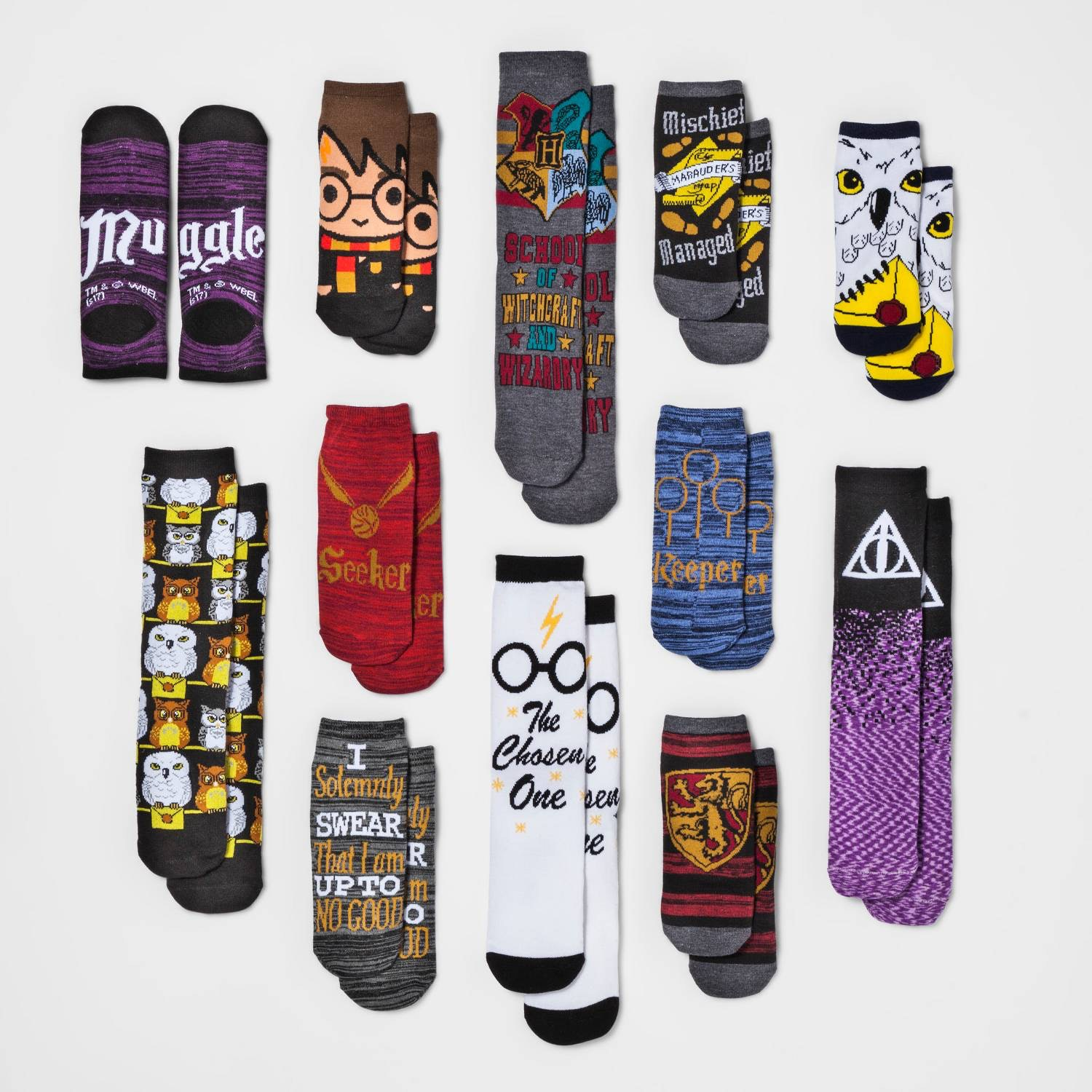 12 Days Of Christmas Socks.This Harry Potter Advent Calendar Includes 12 Pairs Of Socks