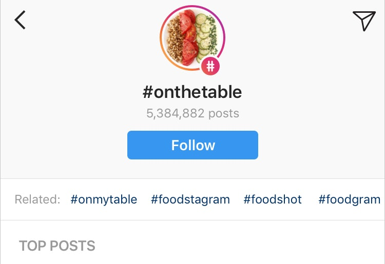 Instagram becomes an interest network with hashtag following
