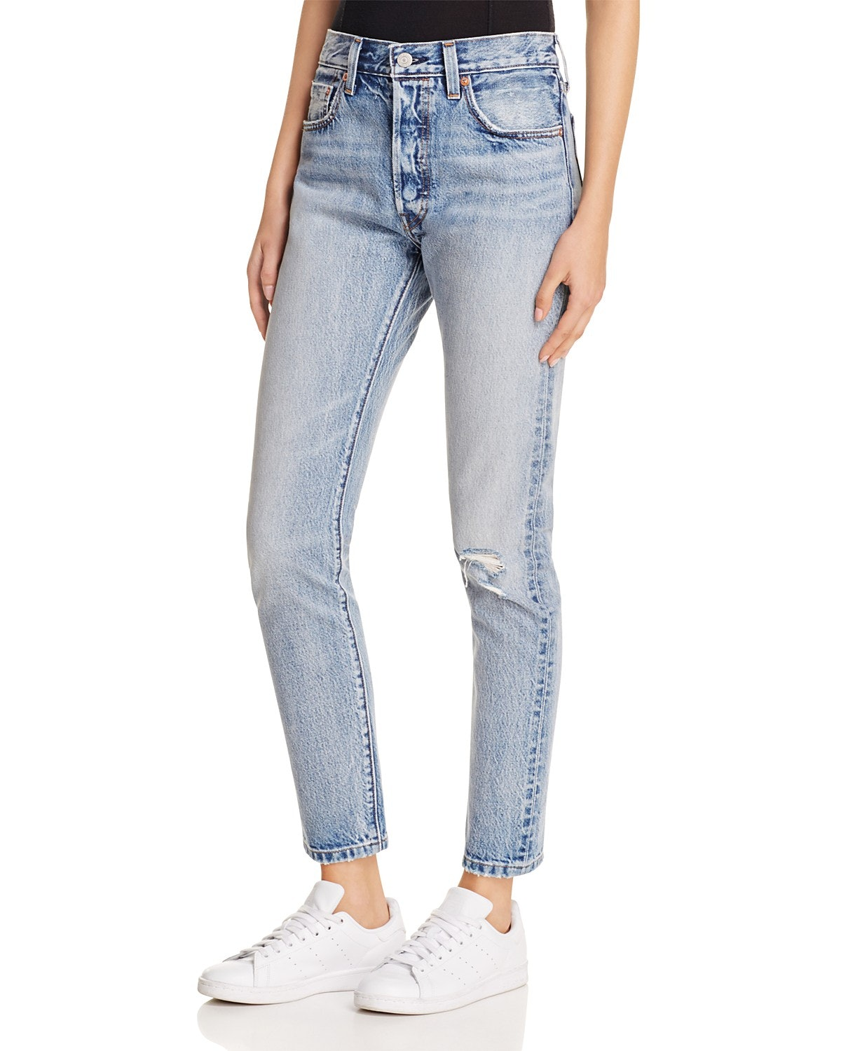 e9521ad5 Levis Womens 501 Skinny Fit Ripped Jeans Old Hangouts