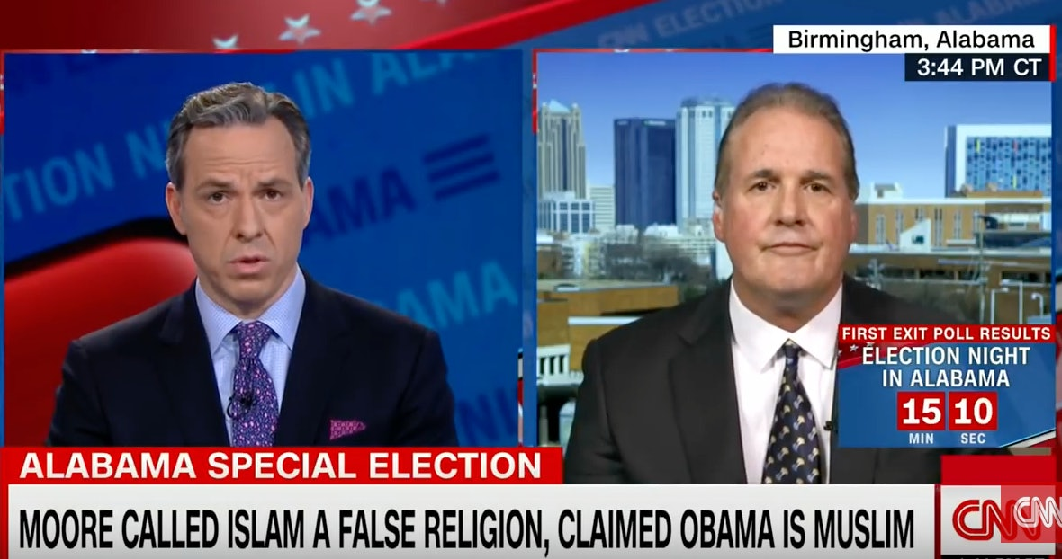 Jake Tapper Left Roy Moore's Spokesman Speechless & Twitter Ran With ItCNN  YouTube