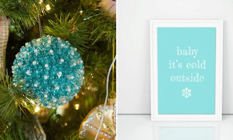 Teal Christmas Tree