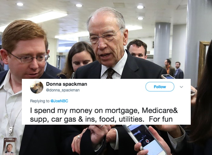 Grassley: Wealthy invest, others spend on booze or women