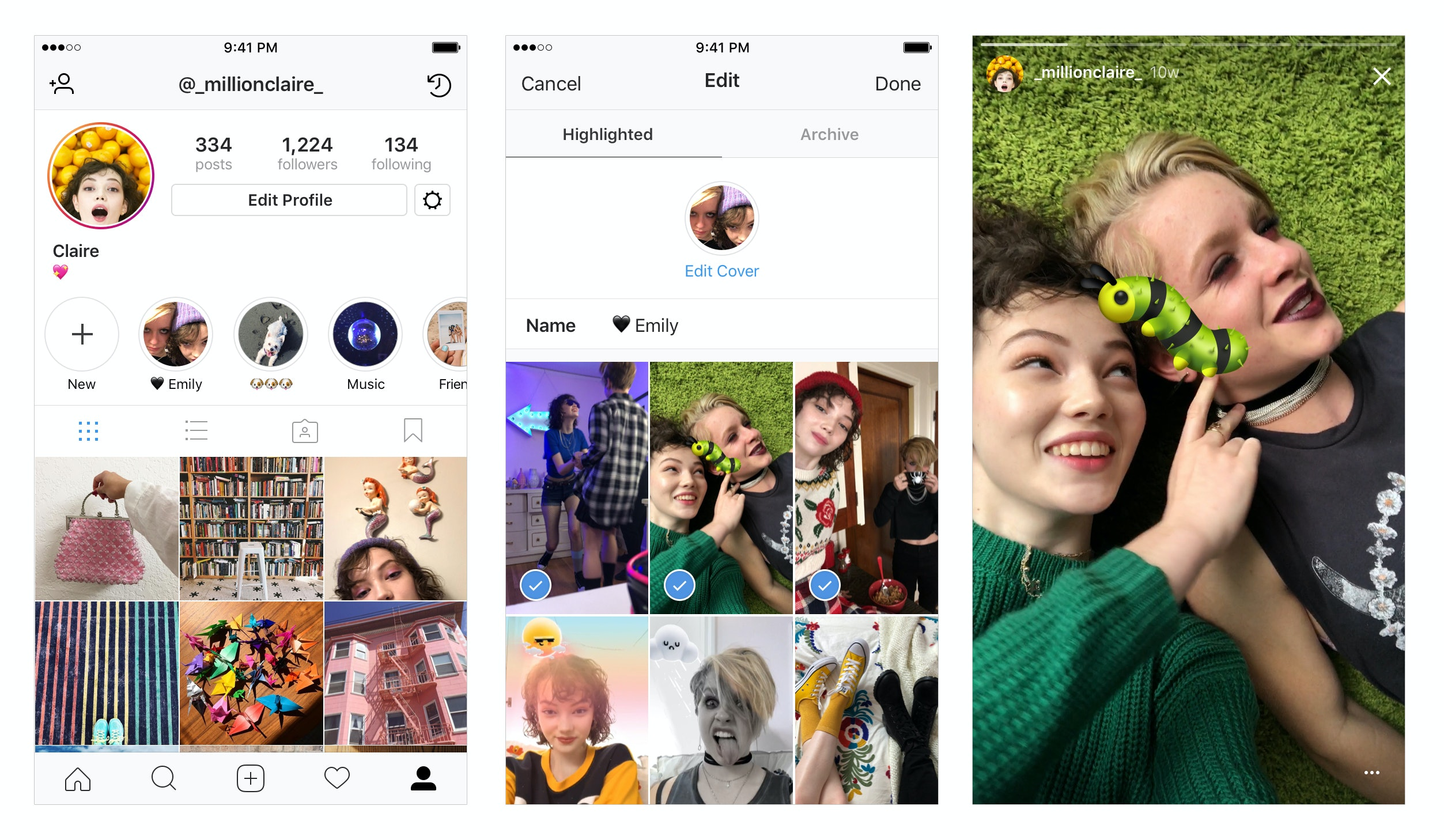 Instagram Adds New Stories Highlights Section Right to Your Profile