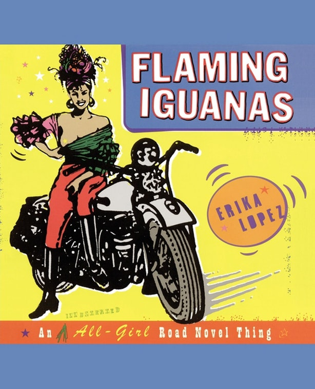 the journey of tomato rodriguez in erika lopezs flaming iguanas Tomato rodriguez hops on her motorcycle and embarks on the ultimate sea-to-shining-sea all-girl adventure -- a story in that combines all the best parts of alice in wonderland and easy rider as tomato crosses the country in search of the meaning of life, love, and the perfect post officeflaming iguanas is a hilarious novel that combines text, line.