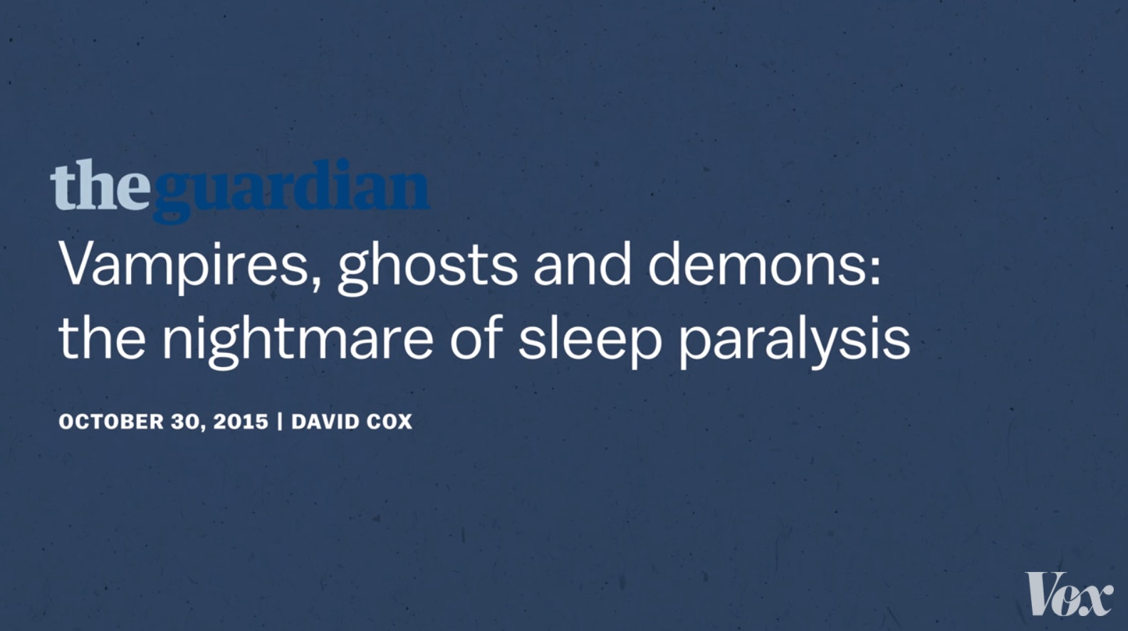death dreams and ghosts