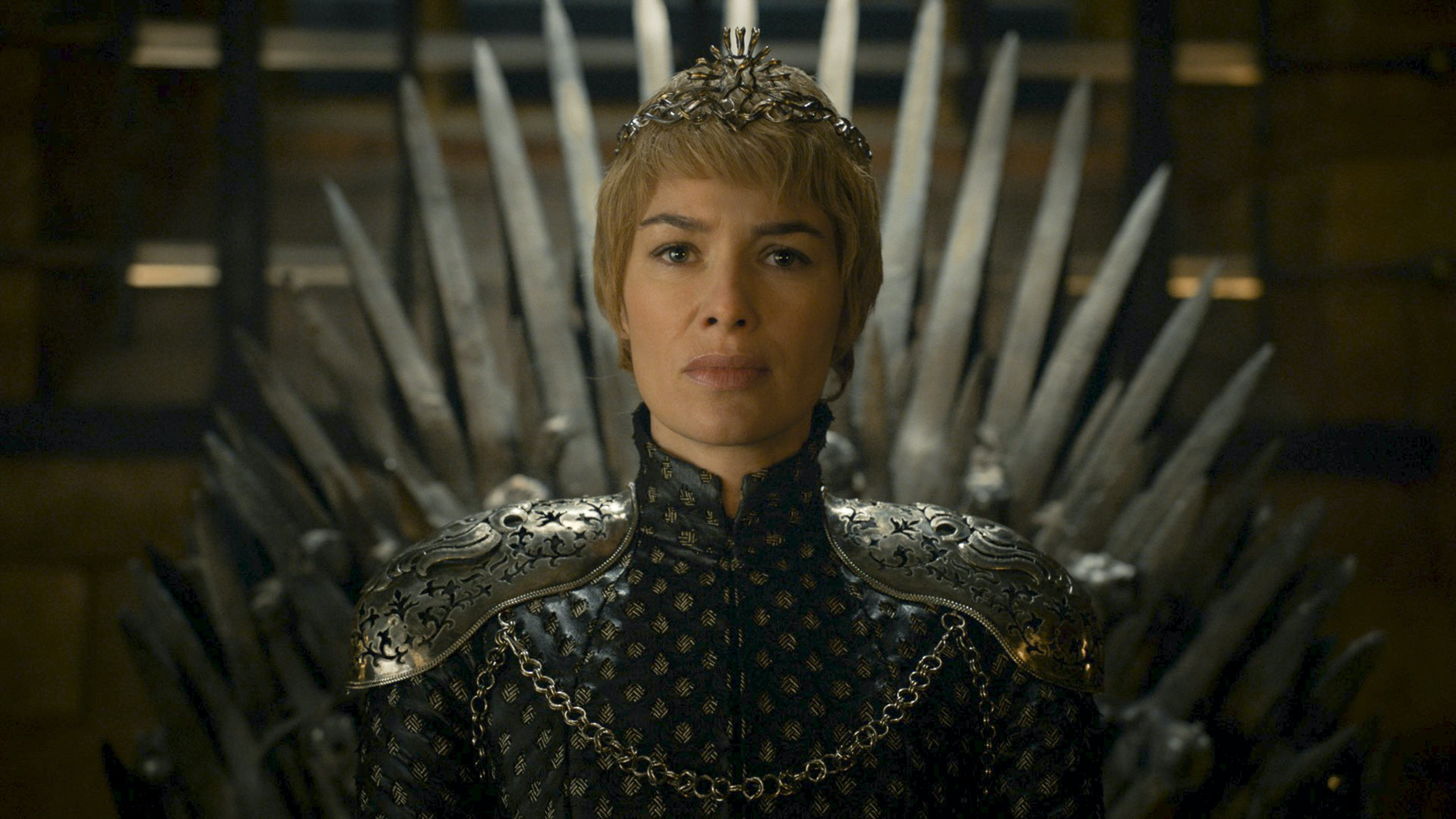 Cersei declares from the Iron Throne