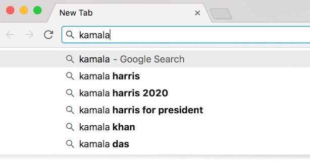 בילד: זוכענדיג קאמאלא העריס אויף גוגל, ווייזט אז זי וועט לויפן