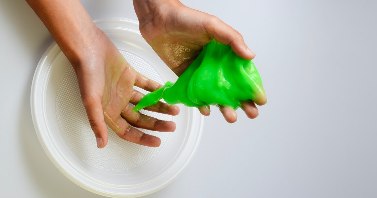 how to make slime not stain your hands