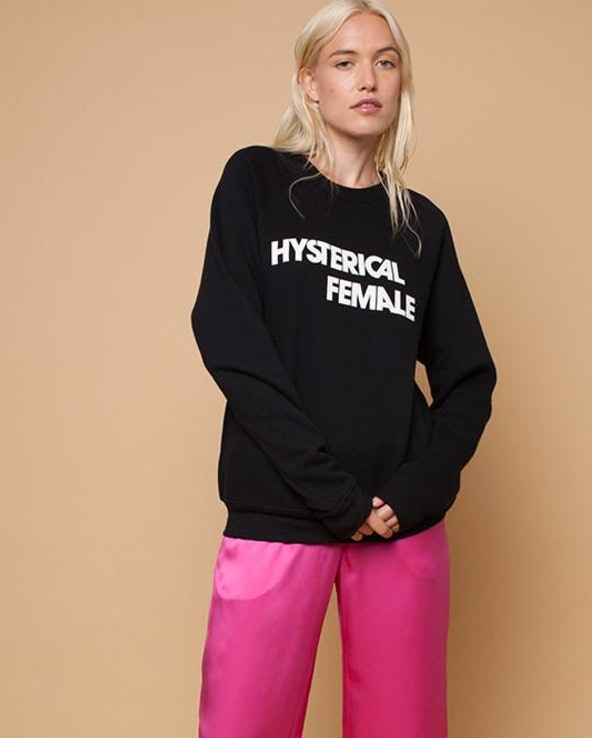 1c1264a94 Where To Buy The 'Hysterical Female' T-shirt Zooey Deschanel Wore To Smash  Stereotype