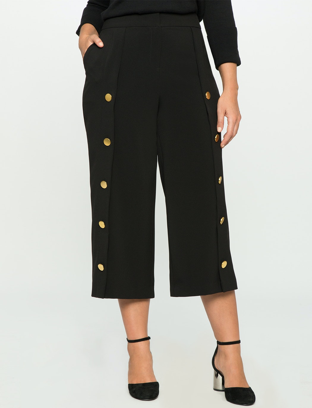 99a83ca2a0e 37 Plus Size Cropped Wide Leg Pants That ll Make Your Summer To Fall  Transition A Breeze