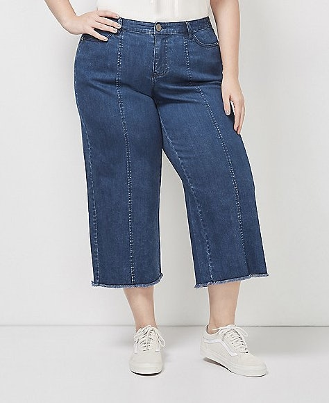 b2acbca3f6 37 Plus Size Cropped Wide Leg Pants That'll Make Your Summer To Fall  Transition A Breeze