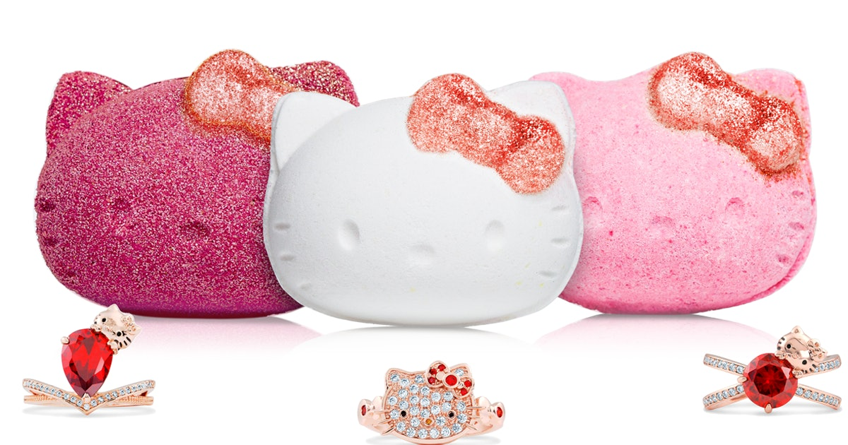 Hello Kitty Bath Bombs Are Here Amp They Have Hidden