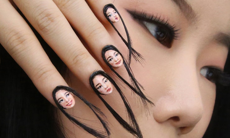 Hair nails are the nail art trend you never knew you needed to see prinsesfo Choice Image