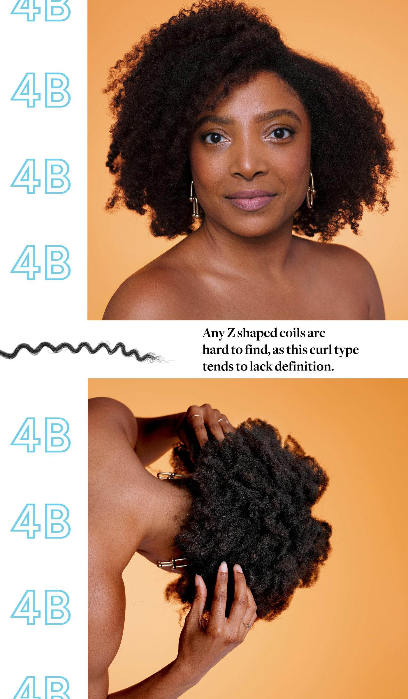 Black Hair Curl Pattern Interesting Design