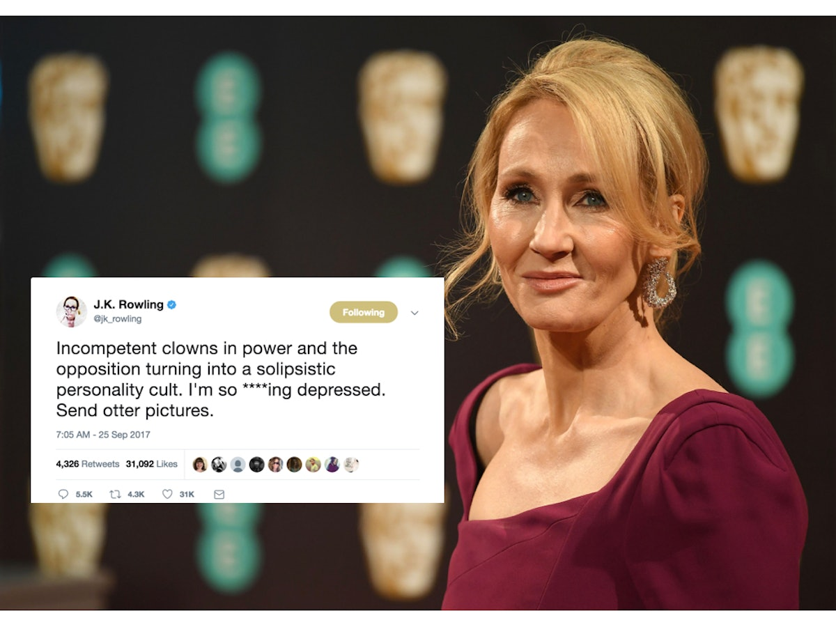 J.K. Rowling Asked Twitter To Cheer Her Up, And The Internet Really Delivered
