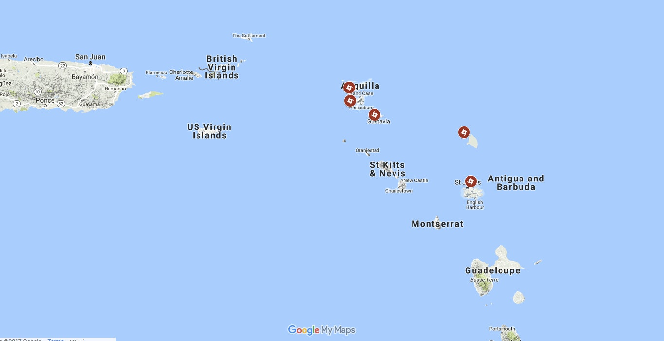 this map of the caribbean islands irma hit shows where the devastation is the worst