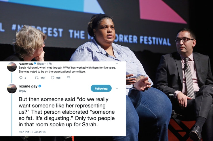 The Midwest Writers Workshop Is Under Fire After Roxane Gay Called Them Out For Fatphobic Behavior by Sadie Trombetta for Bustle