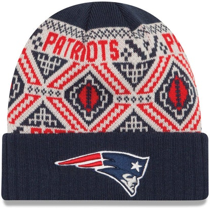 Men s New England Patriots New Era Navy Cozy Cuffed Knit Hat 8eb3800cf