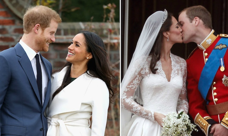 Meghan Harry S Wedding Compared To William Kate Is So Diffe
