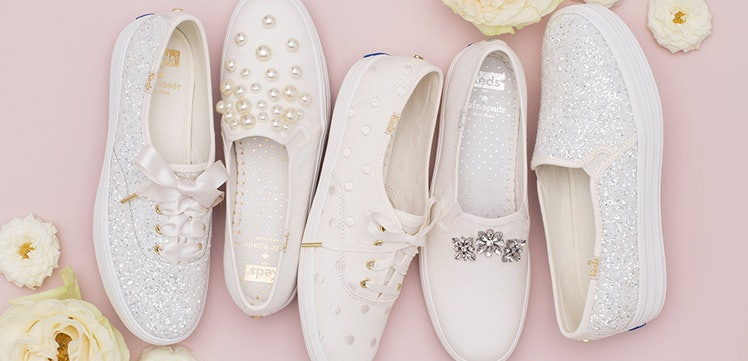 keds wedding shoes keds x kate spade wedding sneakers are for brides who want 5303