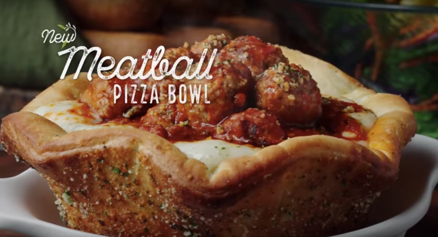 Olive Garden\'s New Meatball Pizza Bowl Debuted This Week As Part Of ...