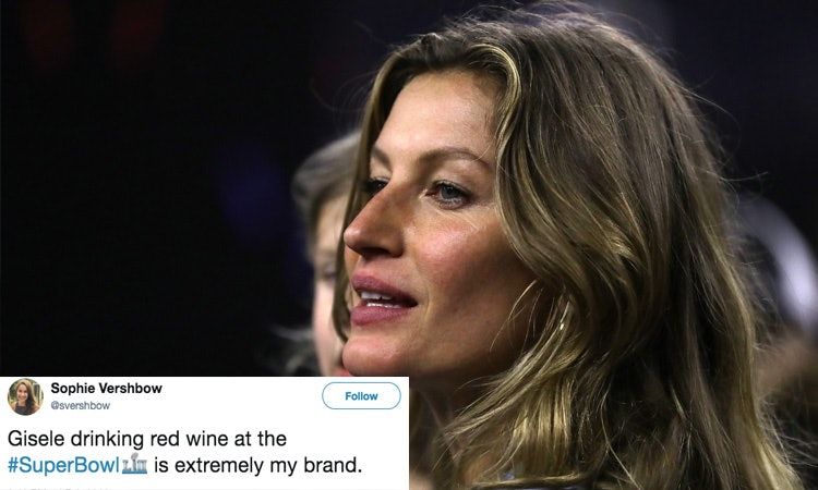 d2601816 5c6f 40fc b6d5 44ed4568c5b7 gisele?w=748&h=448&fit=crop&crop=faces&auto=format&q=70 tweets about gisele drinking wine during the super bowl prove
