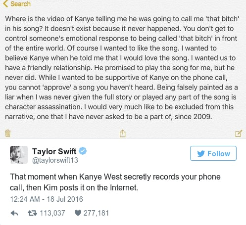 Kim Kardashian & Taylor Swift's Social Media Exchanges Are