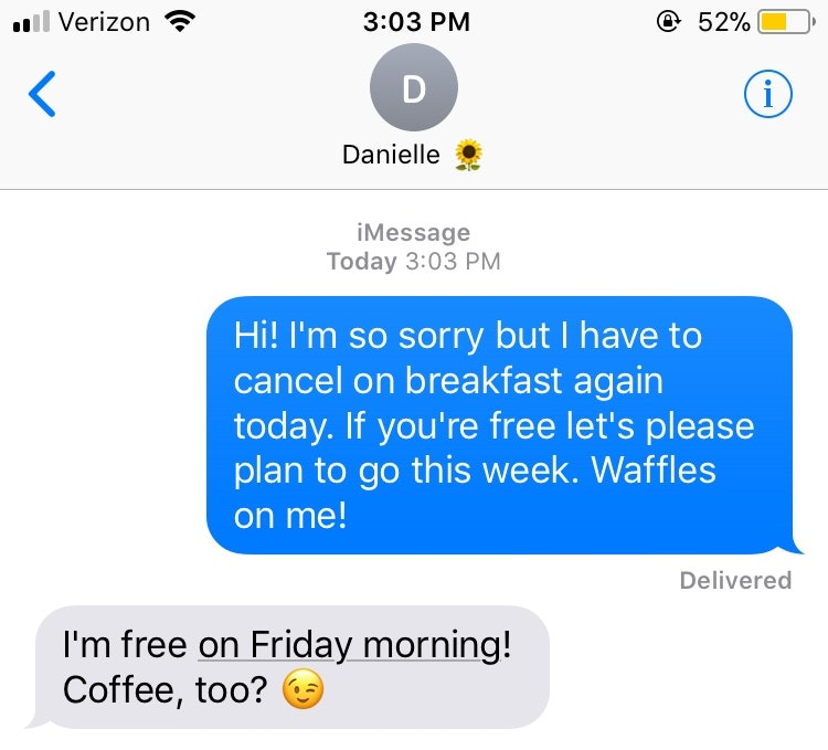 How To Cancel Plans With A Friend Over Text According To An Expert