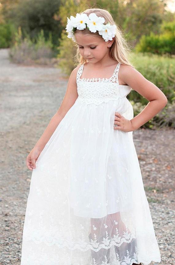 8c7f8a1855 16 Boho Flower Girl Dresses So Cute